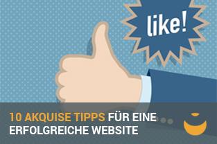 Zehn Akquise Tipps für eine erfolgreiche Website